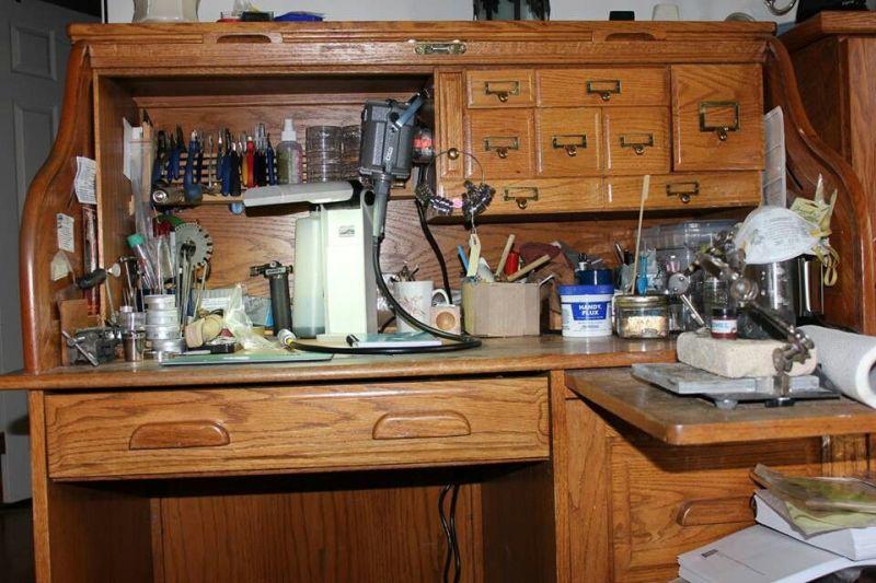 plans roll top computer desk